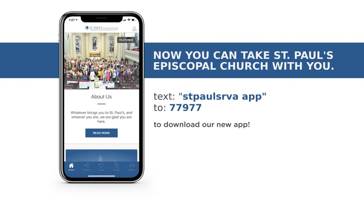 Get St. Paul's App today!
