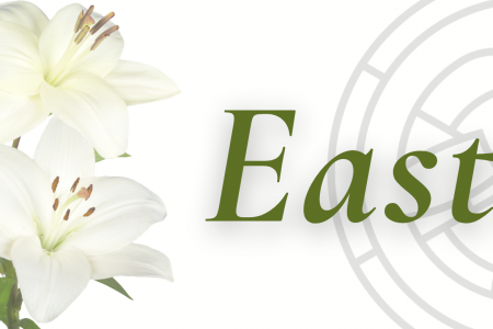 Picture of lilies and the word Easter